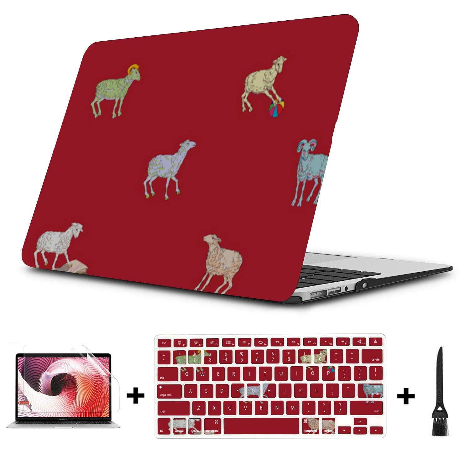 13 MacBook Air Case Sheep Retro Wild Animal Naturel Plastic Hard Shell Compatible Mac Air 11 Pro 13 15 MacBook Air Computer Case Protection for MacBook 2016-2019 Version