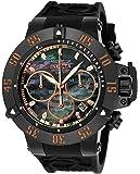 Invicta Men's 'Subaqua' Quartz Metal and Silicone Casual Watch, Color:Black (Model: 22921)