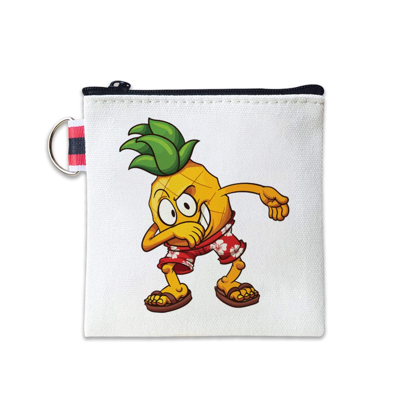 Amazon.com: Dabbing - Monedero de piña de lona, bolsa de ...