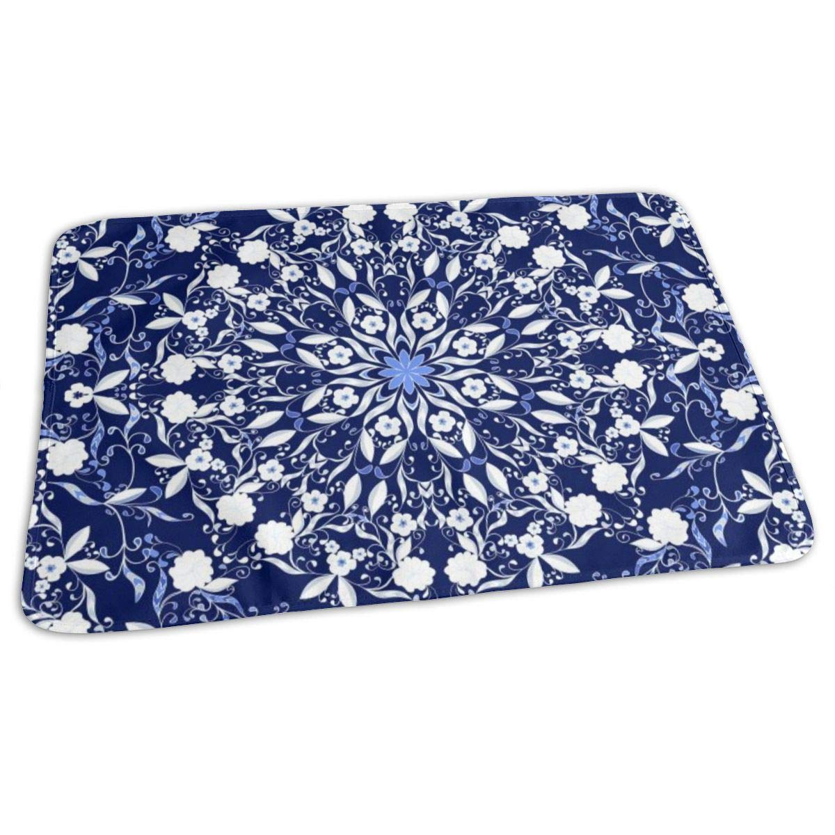 Osvbs Lovely Baby Reusable Waterproof Portable Dark Blue Background in Chinese Style Changing Pad Home Travel 27.5''x19.7'' by Osvbs