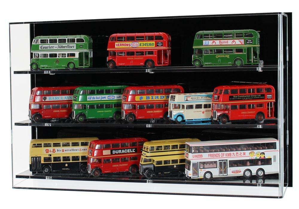 Widdowsons Display Cases Wall 1:76 Model Buses-3 Shelves, Acrylic, 47 x  13 5 x 29 5 cm