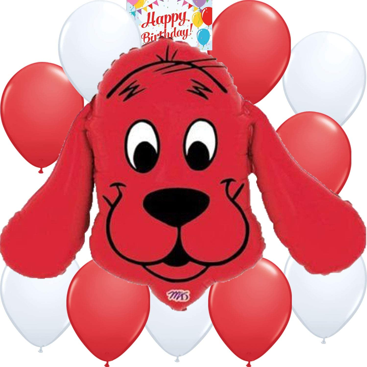 Clifford the Big Red Dog Big Balloon Birthday Decoration Bundle