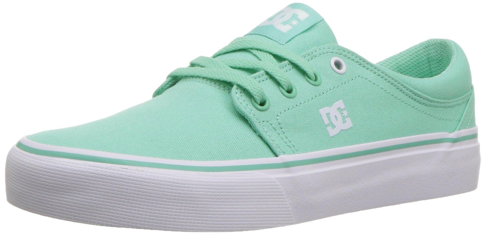 DC Women's Trase TX Skate Shoe, Mint, 9 B B US