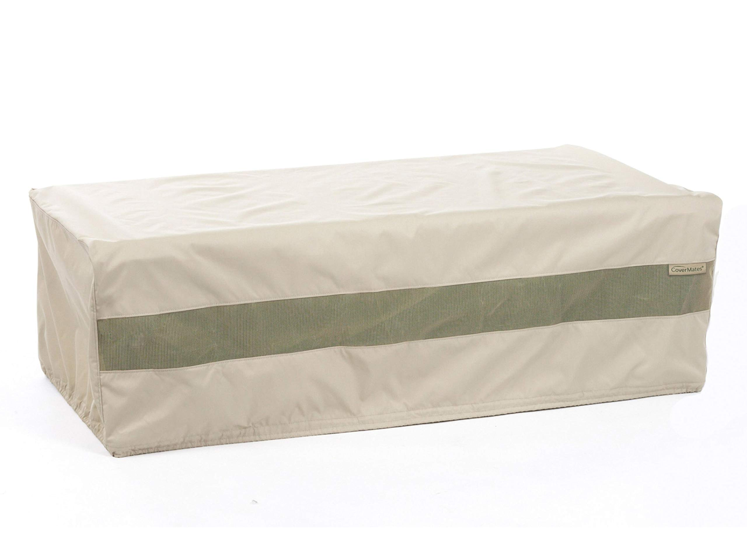 Covermates - Rectangular Accent Table Cover - 60W x 36D x 25H - Elite - 300D Stock-Dyed Polyester - Double Stitched Seams - Locking Drawcord System - 3 YR Warranty - Weather Resistant - Khaki by Covermates