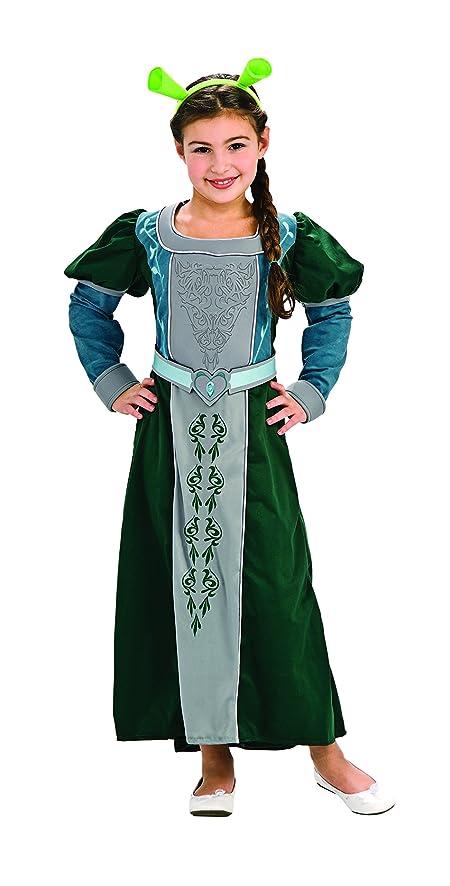 Amazon.com: Shrek Child\'s Deluxe Costume, Princess Fiona Costume ...