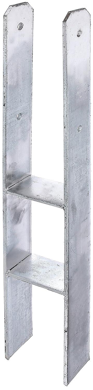 Materialst/ärke: 5 mm lichte Breite: 116 mm GAH-Alberts 203931 H-Pfostentr/äger Gesamth/öhe: 600 mm feuerverzinkt