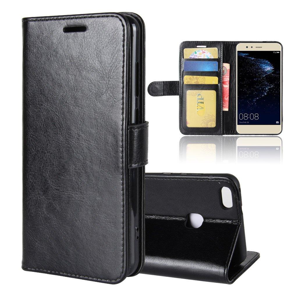 Blanc adorehouse Huawei P10 Lite Coque Housse PU Wallet Case Fonction Stand Fermeture Aimant/ée Porte Carte Flip Back Cover Coquille Arri/ère Etui pour Huawei P10 Lite
