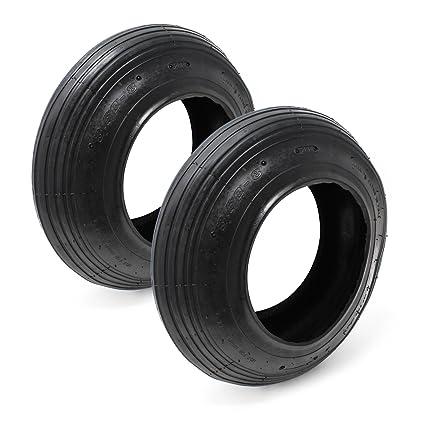 Set 2x cubiertas ruedas neumáticas carretilla 3.50-8 Repuestos Accesorios jardinería Construcción