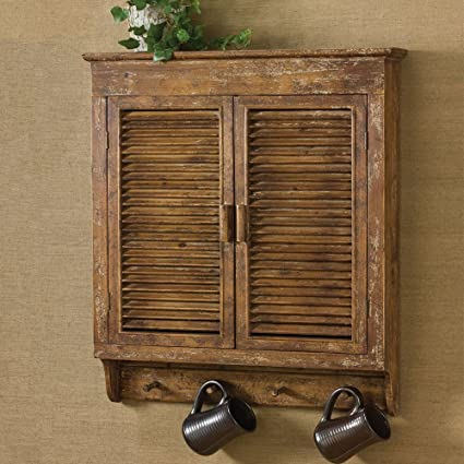 Park Designs Shabby Chic Distressed Wood Shutter Cabinet