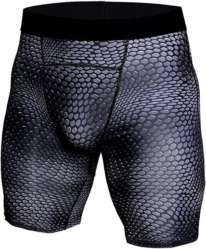 Men/'s Compression Boxer Shorts Stretch Tights Running Athletic Gym Sports Pants