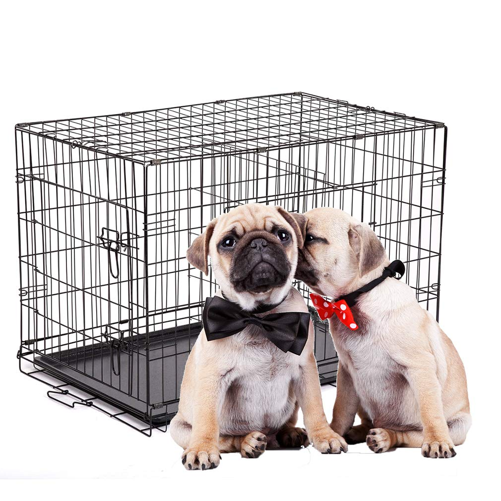 BestPet Pet Folding Cage Dog Crate Kennel with ABS Tray, 30-Inch