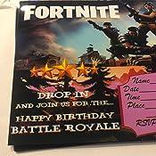 Amazon.com: 12 tarjetas de invitación de cumpleaños de ...