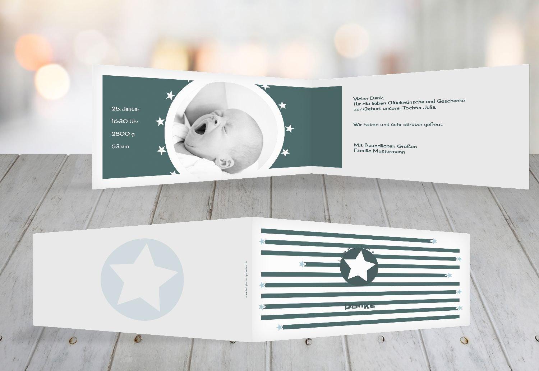 Kartenparadies Danksagung für Geburt Baby Dankeskarte a new star, hochwertige hochwertige hochwertige Danksagungskarte Baby inklusive Umschläge   100 Karten - (Format  215x105 mm) Farbe  Hellbraun B01N6WW6W2 | Sale Online Shop  | Online Kaufen  | Erste Kunden Eine Vo 69d601