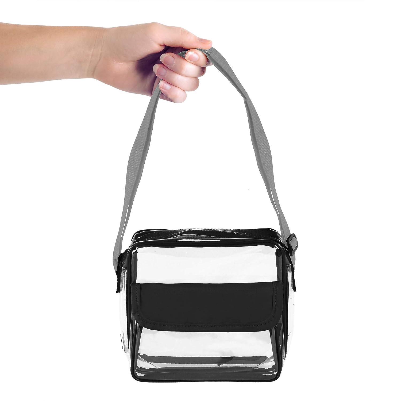 Clear Stadium Bag Team colors Crossbody NFL//PGA//COLLEGE//NHL//MLB /& Concert Approved Purse w//Adjustable Strap