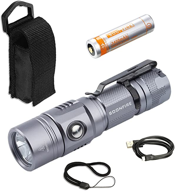 1000 Lumen Cree XP-L LED Rechargeable Flashlight