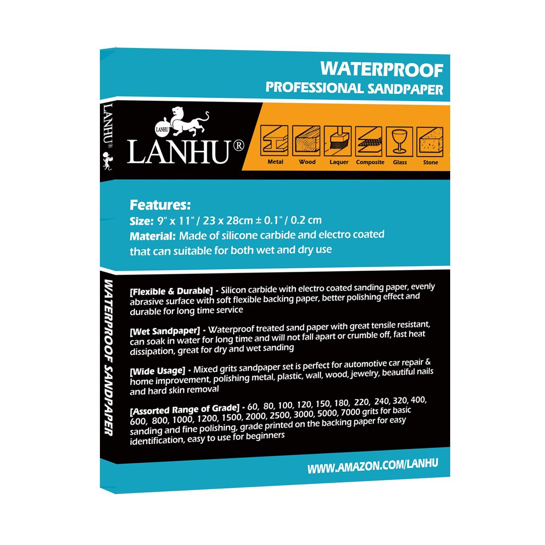 "100 Sheets Premium Latex Back Sandpaper Sand Paper 100 Grit 9/"" x 11/"" Wet//Dry"