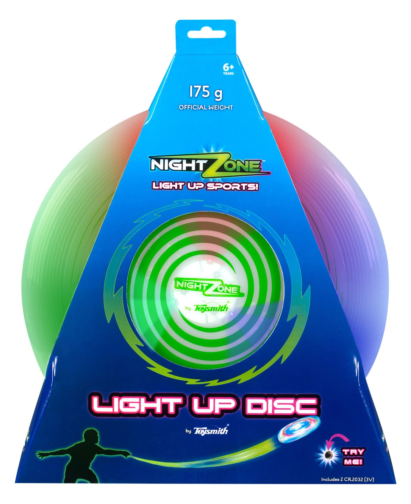 led official up ultimate s grams disc light frisbee flying lights p green gosports