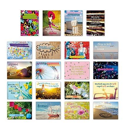 ewtshop 20 tarjetas postales Juego Alegría con 20 Frases ...