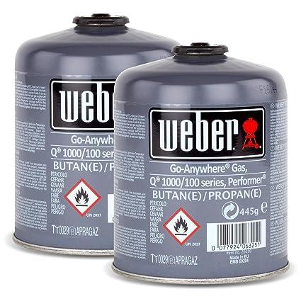 Juego de bombonas de gas 26100 para la serie Q 100 de Weber y Performer Touch