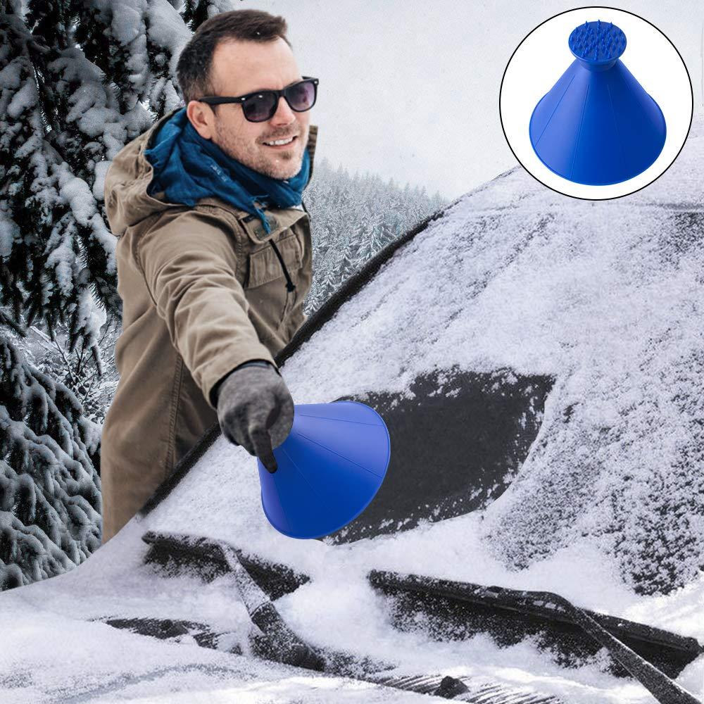 Grattoir à Neige, Grattoir De Voiture Glace Pelle Pour Vitre Voiture Grattoir Pare Brise Neige Gratte Pare Brise pour Grattoir à Glace Retrait pour SUV, Voitures, Camions et Camionnettes (Blue) GoodGoodday