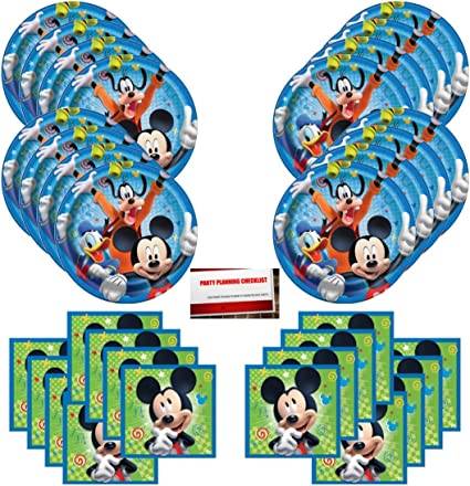 Amazon Com Disney Mickey Mouse Goofy Donald Duck Birthday Party Supplies Bundle Pack For 16 Guests Plus Party Planning Checklist By Mikes Super Store Health Personal Care