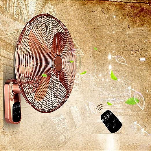 HRD Ventilador de Pared de Metal Vintage, con Control Remoto ...