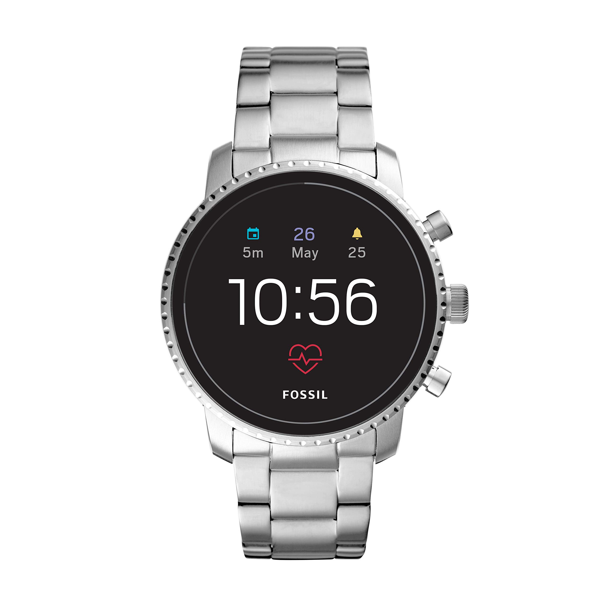 Fossil Men's Gen 4 Explorist HR Stainless Steel Touchscreen Smartwatch, Color: Silver (Model: FTW4011)