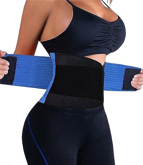 3553fe105b FULULAI Waist Trainer Belt for Women-Adjustable Slimming Waist Cincher-Body  Shaper Belt