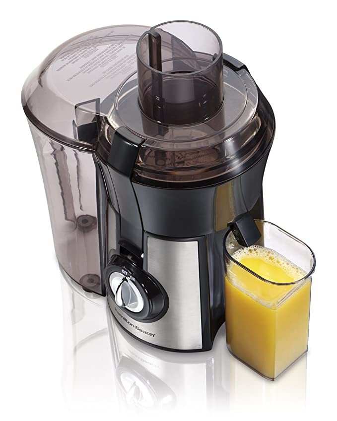 Hamilton Beach 040094922635 (67608A) Juicer, Electric, 800 Watt, Easy to Clean, BPA Free, Large, Silver