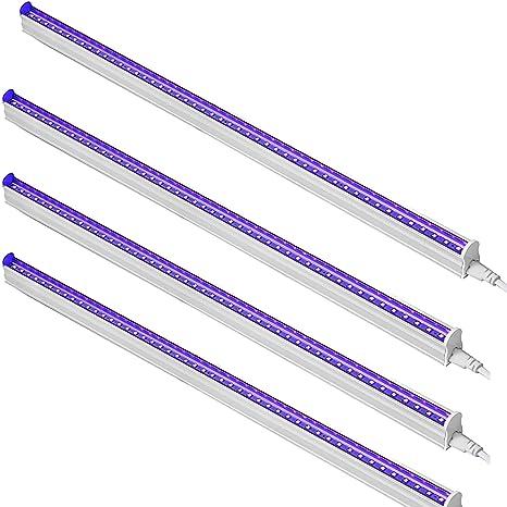 6W Lámpara Blacklight Portátil para UV Cartel UV Arte ...