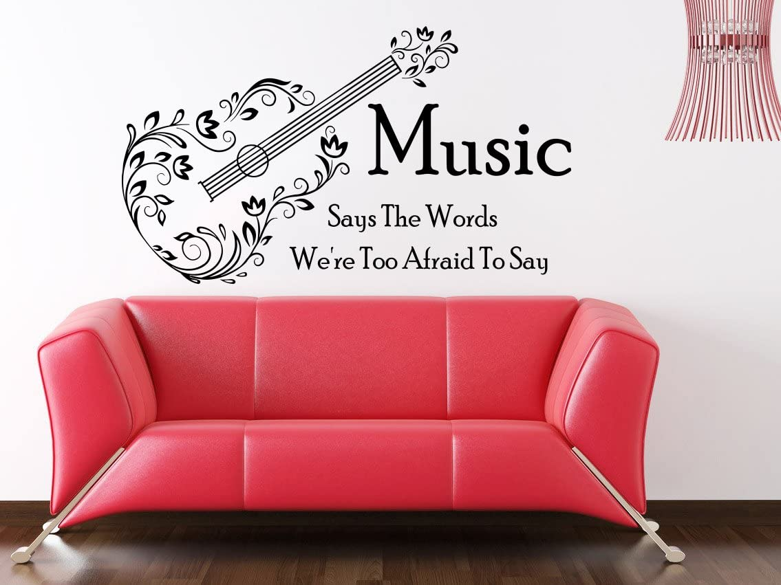 Wall Decals Quotes Vinyl Sticker Decal Quote Music Says The Words We Re Too Afraid To Say Home Decor Bedroom Art Design Interior Ns458 Amazon Com