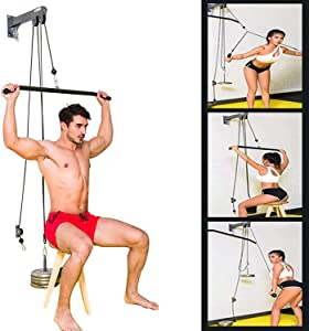 TRENDBOX Pulley System Gym Tricep Rope Pull Down Training Cable Machine, LAT Pulldown Attachments for Home and Gyms