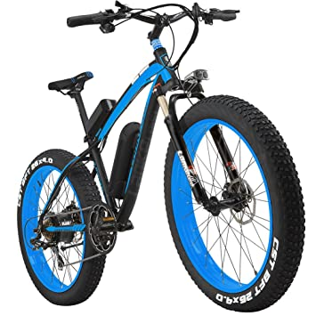 "LANKELEISI 26"" All-Terrain Powerful Electric Bike Fat 1000W Motor 48V10AH Ebike Shimano 7"