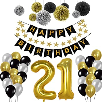 Yoart 21st Birthday Decorations Birthday Party Decorations Sets For