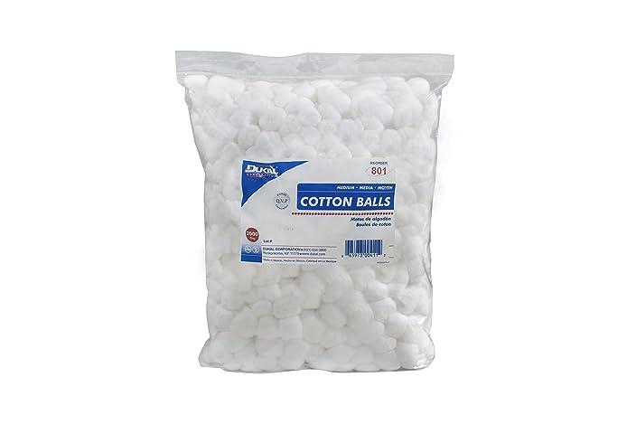 Dukal 801 Cotton Balls, Non Sterile, Medium, White