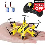 SGILE 2.4 GHZ 6-AXIS Mini RC Hexacopter Gyro Drone with 360 Rotating Headless Mode Altitude Hold Mode Yellow (2 Batteries Included)