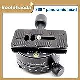 Koolehaoda 360 ° Panoramakopf Professionelle Kamera Stativ Panorama Kopf Halter mit Universal-Schnellwechselplatte Kompatibel mit  RRS / Arca-Swiss Kugelkopf Schnellwechselplatte, Kamerastativ Kugelkopf (XPC-60)