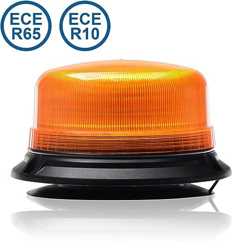Led Martin Rundumleuchte Xr20 Eco 12v 24v Orange Gelb Magnetfuß 3 5m Kabel Ece R65 Kompakte Bauform Auto