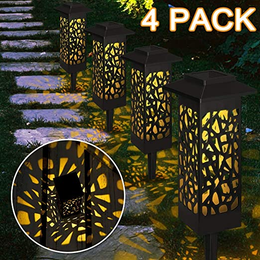 Vegena Luces Solares Jardín LED, Luz Solar de Césped, IP65 Impermeable Lámpara de Camino de Paisaje Acero Inoxidable, Luces Exterior Solares para Patio, Césped, Patio, Pasillo (4 pcs): Amazon.es: Iluminación