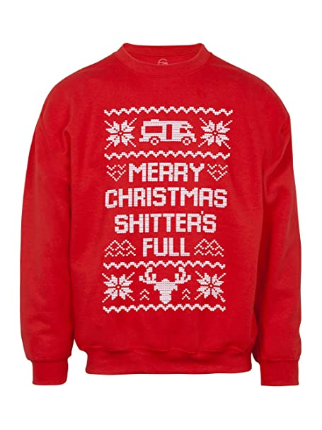 Mens Merry Christmas Shitters Full Ugly Sweater Amazonca Sports