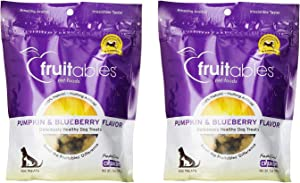 Fruitables Crunchy Baked Dog Treats   Pumpkin & Blueberry   7 Ounces - 2 Pack