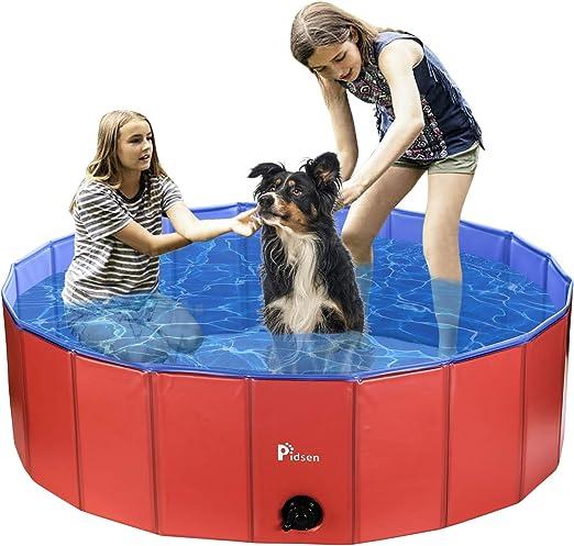 Pidsen - Piscina para Perros Plegable de PVC para Cachorros y ...