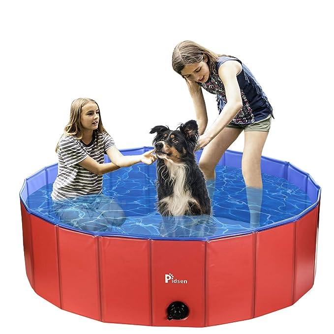 Pidsen Piscina para Perros Plegable PVC niños Cachorros Piscina de ...