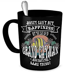 Grand Cayman Island Happiness Coffee Mug-Black