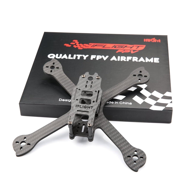 Owoda Racer iX5 V3 210mm Fibre de Carbone 3K Quadcopter Frame 5 Pouces 4mm Stretch X Bras Low Ride pour FPV RC Drone Quadcopter DIY Kit
