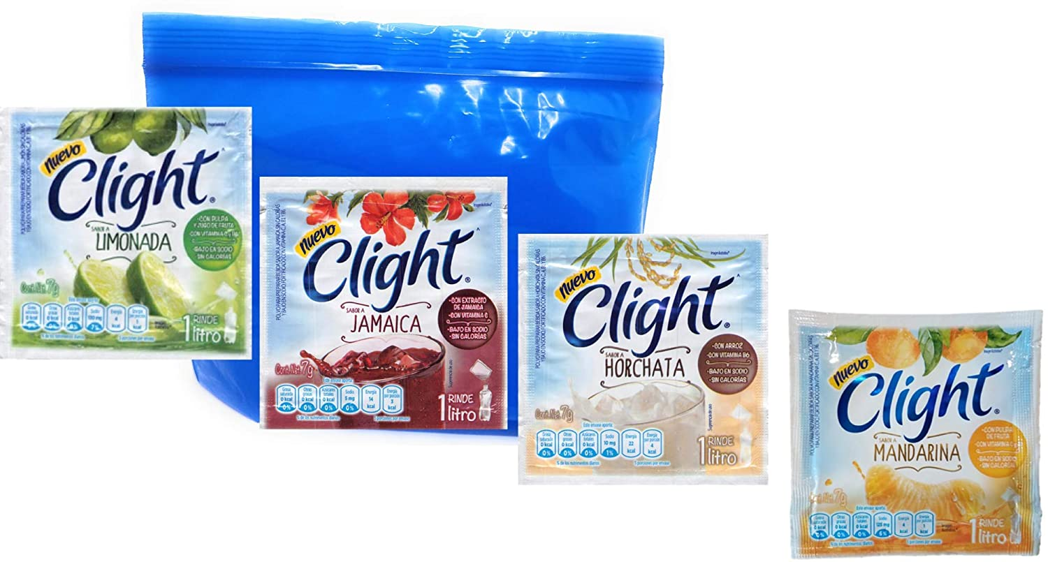 Clight Powdered Drink Mix 1 Liter (Pack of 16: Mandarina, Horchata ...