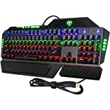 Pictek 104 Keys Anti-ghosting Backlit Mechanical Gaming Keyboard with Blue Switch