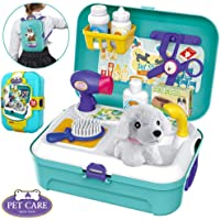 PLUSPOINT Backpack Kit for Kids Ages Above 2 Years Old, Pretend Playset Toys with The Carrying Backpack, (Pet Care)