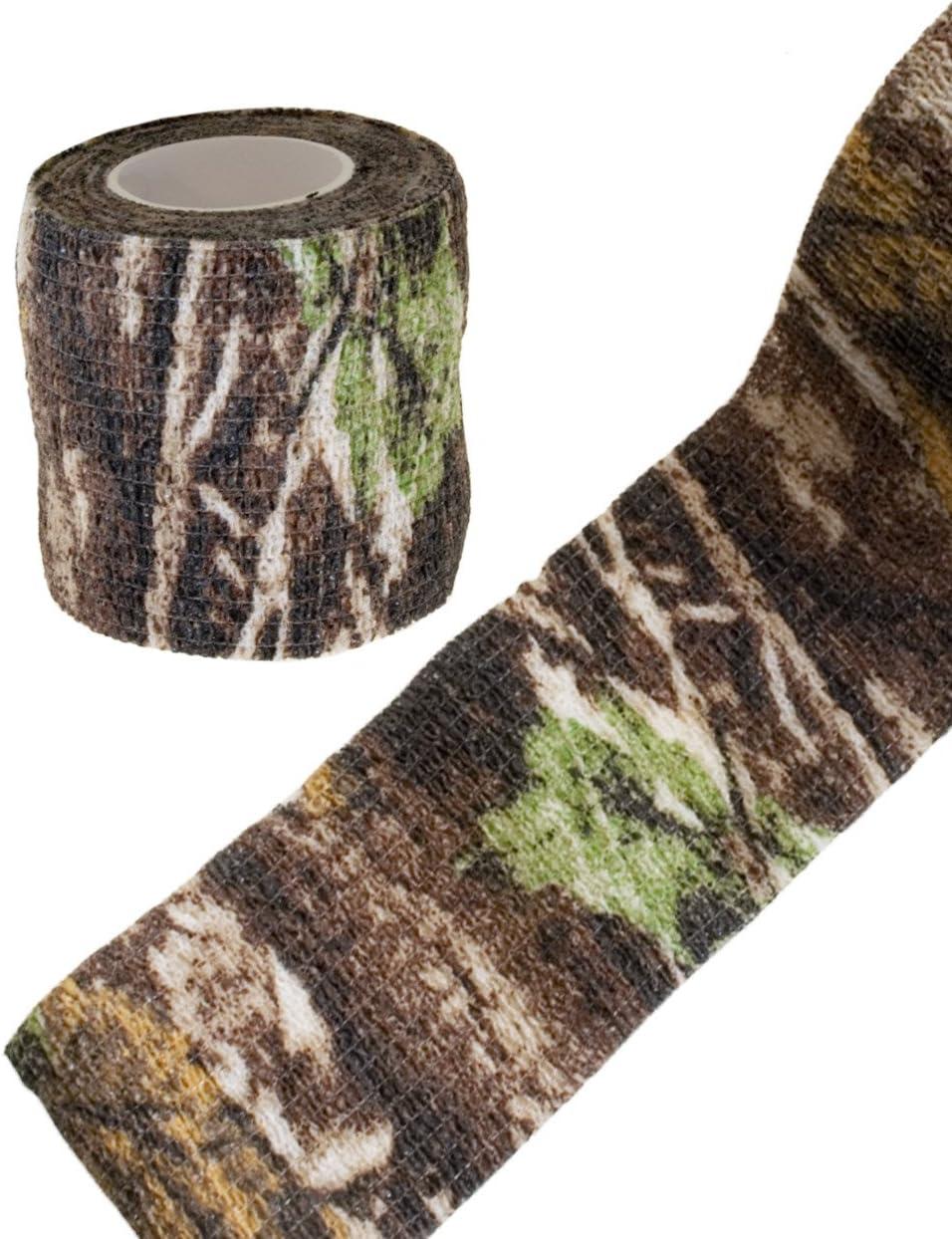 Outdoor Saxx/® 4,5 m fotograf/ías Impermeable para c/ámara Cazadores Multiusos Pesca Cinta de Camuflaje con dise/ño de /árbol Real