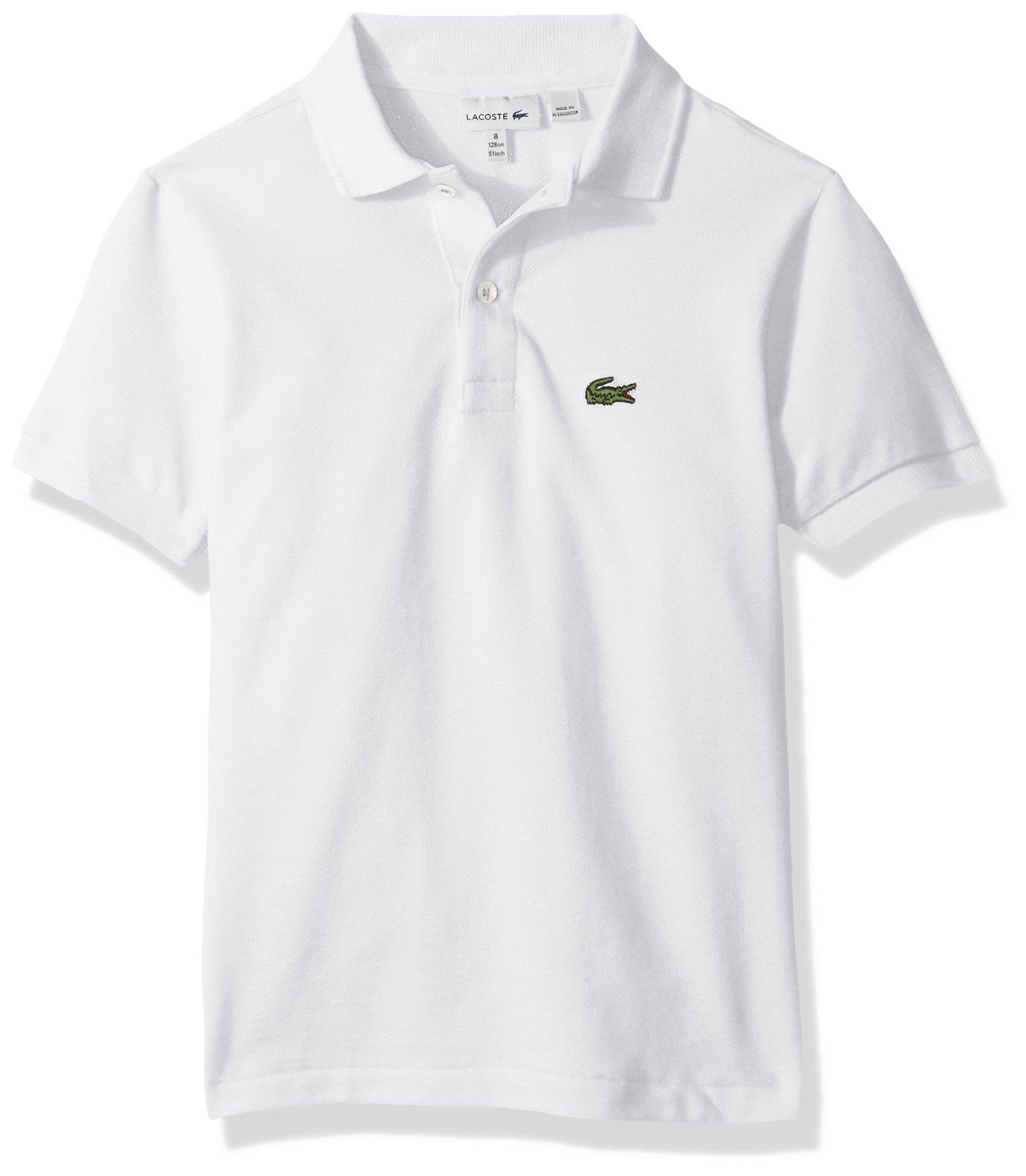 fae4fac2f Galleon - Lacoste Little Boys' (l1812) Short Sleeve Classic Pique Polo  Shirt, White, 4